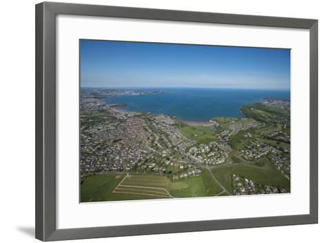 Paignton Bay with Torquay in the Background, Devon, England, United Kingdom, Europe-Dan Burton-Framed Art Print