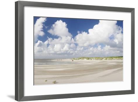 Dunes at a Beach, Sankt Peter Ording, Eiderstedt Peninsula, Schleswig Holstein, Germany, Europe-Markus Lange-Framed Art Print