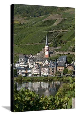 Zell Church on River Mosel, Zell, Rhineland-Palatinate, Germany, Europe-Charles Bowman-Stretched Canvas Print