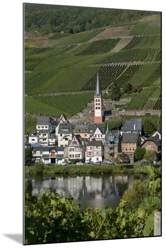 Zell Church on River Mosel, Zell, Rhineland-Palatinate, Germany, Europe-Charles Bowman-Mounted Photographic Print