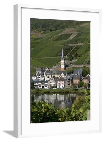 Zell Church on River Mosel, Zell, Rhineland-Palatinate, Germany, Europe-Charles Bowman-Framed Art Print