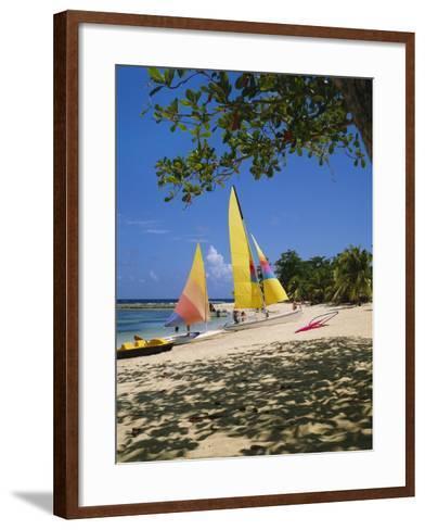 Soufriere, St Lucia, Caribbean-Robert Harding-Framed Art Print