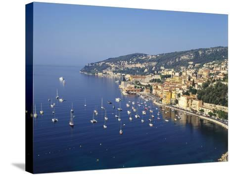 Sailing Boats Off the Coast of Villefrance-Sur-Mer, Provence, France-Robert Harding-Stretched Canvas Print