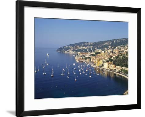 Sailing Boats Off the Coast of Villefrance-Sur-Mer, Provence, France-Robert Harding-Framed Art Print