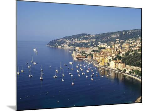 Sailing Boats Off the Coast of Villefrance-Sur-Mer, Provence, France-Robert Harding-Mounted Photographic Print