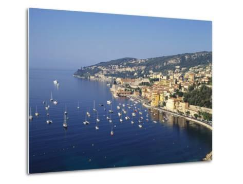 Sailing Boats Off the Coast of Villefrance-Sur-Mer, Provence, France-Robert Harding-Metal Print