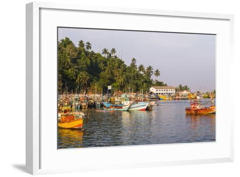 Old Commercial Fishing Boats in Mirissa Harbour, South Coast of Sri Lanka, Asia-Matthew Williams-Ellis-Framed Art Print