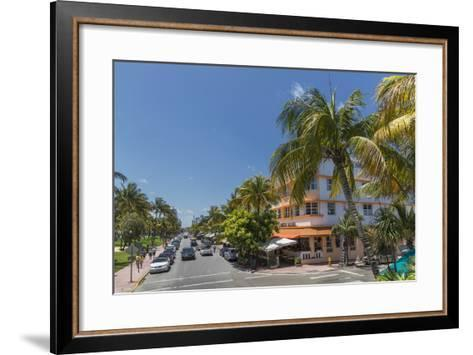 Ocean Drive, Miami Beach, Florida, United States of America, North America-Angelo Cavalli-Framed Art Print