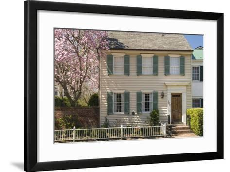 Traditional Timber House in Alexandria Old Town, Virginia, United States of America, North America-John Woodworth-Framed Art Print