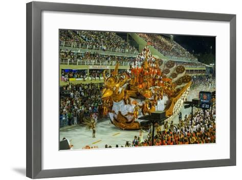 Samba Parade at the Carnival in Rio De Janeiro, Brazil, South America-Michael Runkel-Framed Art Print