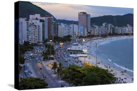 Copacabana at Night, Rio De Janeiro, Brazil, South America-Gabrielle and Michael Therin-Weise-Stretched Canvas Print