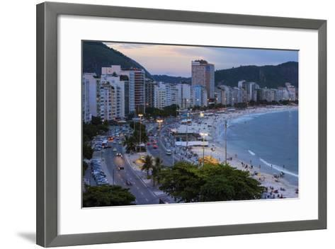 Copacabana at Night, Rio De Janeiro, Brazil, South America-Gabrielle and Michael Therin-Weise-Framed Art Print