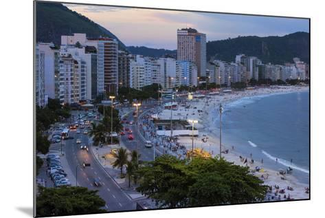 Copacabana at Night, Rio De Janeiro, Brazil, South America-Gabrielle and Michael Therin-Weise-Mounted Photographic Print