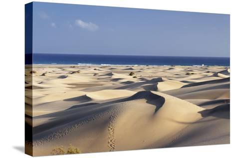 Panorama of the Sand Dunes of Maspalomas-Markus Lange-Stretched Canvas Print