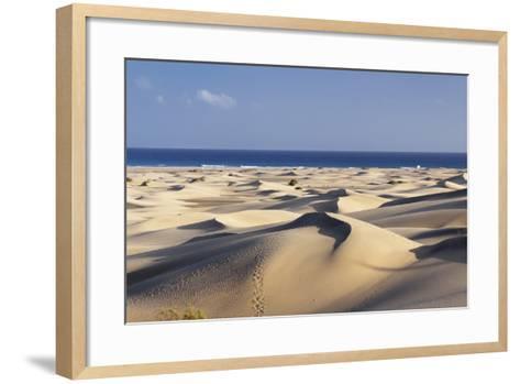 Panorama of the Sand Dunes of Maspalomas-Markus Lange-Framed Art Print