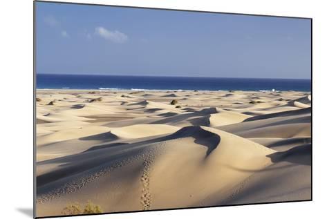 Panorama of the Sand Dunes of Maspalomas-Markus Lange-Mounted Photographic Print