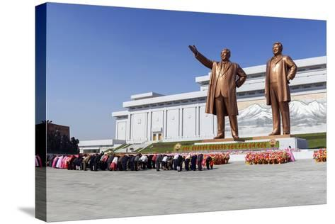 Statues of Former Presidents Kim Il-Sung and Kim Jong Il-Gavin Hellier-Stretched Canvas Print