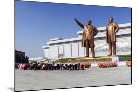 Statues of Former Presidents Kim Il-Sung and Kim Jong Il-Gavin Hellier-Mounted Photographic Print