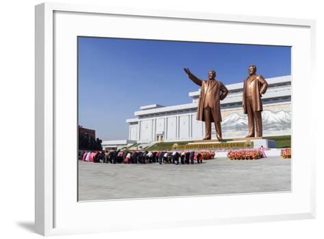 Statues of Former Presidents Kim Il-Sung and Kim Jong Il-Gavin Hellier-Framed Art Print