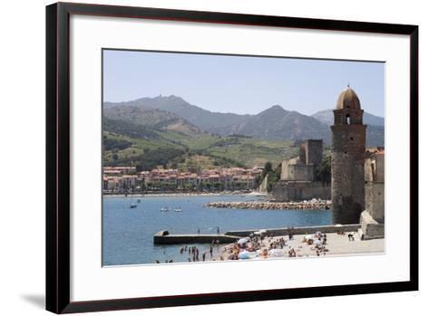 Beach and Eglise Notre-Dame-Des-Anges-Martin Child-Framed Art Print