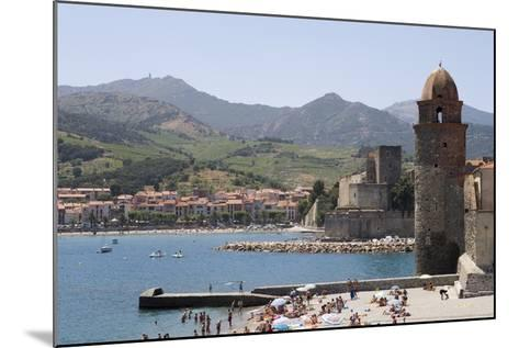 Beach and Eglise Notre-Dame-Des-Anges-Martin Child-Mounted Photographic Print