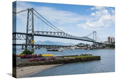 Bridge Linking Florianopolis on Ilha Catarina (Santa Catarina Island) with the Continent-Michael Runkel-Stretched Canvas Print