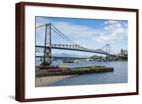 Bridge Linking Florianopolis on Ilha Catarina (Santa Catarina Island) with the Continent-Michael Runkel-Framed Art Print
