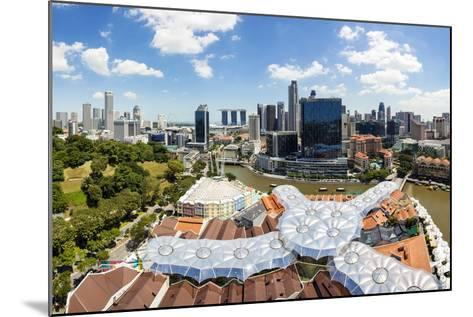 Elevated View over Fort Canning Park and the Modern City Skyline, Singapore, Southeast Asia, Asia-Gavin Hellier-Mounted Photographic Print