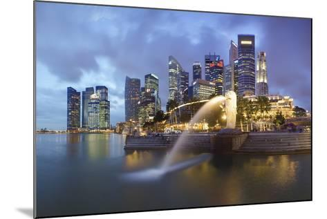 The Merlion Statue with the City Skyline in the Background-Gavin Hellier-Mounted Photographic Print
