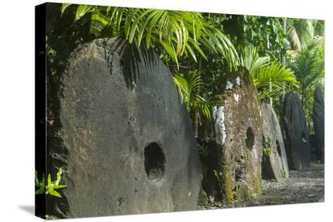Stone Money on the Island of Yap, Federated States of Micronesia, Caroline Islands, Pacific-Michael Runkel-Stretched Canvas Print