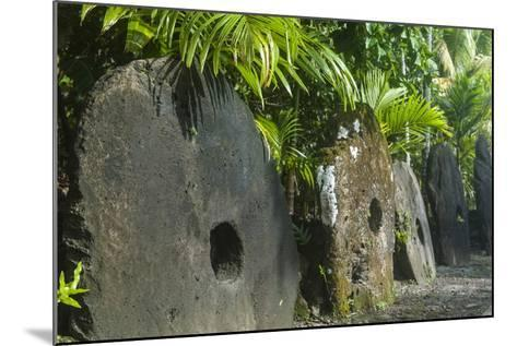 Stone Money on the Island of Yap, Federated States of Micronesia, Caroline Islands, Pacific-Michael Runkel-Mounted Photographic Print
