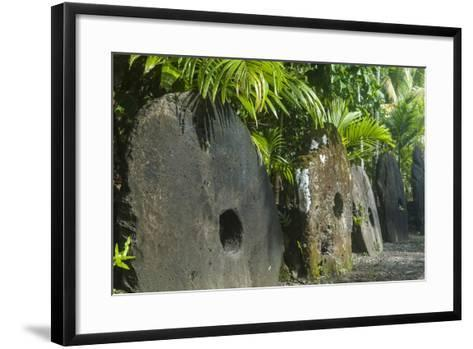 Stone Money on the Island of Yap, Federated States of Micronesia, Caroline Islands, Pacific-Michael Runkel-Framed Art Print