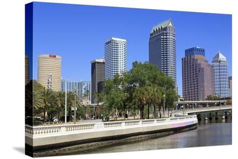 Tampa Skyline and Hillsborough River, Tampa, Florida, United States of America, North America-Richard Cummins-Stretched Canvas Print