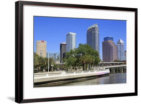 Tampa Skyline and Hillsborough River, Tampa, Florida, United States of America, North America-Richard Cummins-Framed Art Print