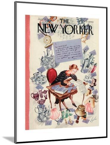 The New Yorker Cover - June 11, 1938-Constantin Alajalov-Mounted Premium Giclee Print