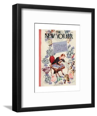 The New Yorker Cover - June 11, 1938-Constantin Alajalov-Framed Art Print