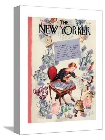 The New Yorker Cover - June 11, 1938-Constantin Alajalov-Stretched Canvas Print