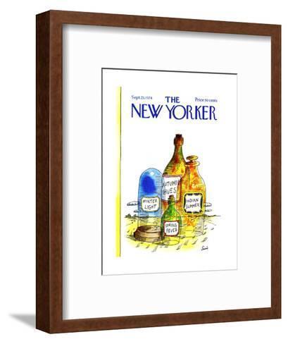 The New Yorker Cover - September 23, 1974-Jean-Claude Suares-Framed Art Print