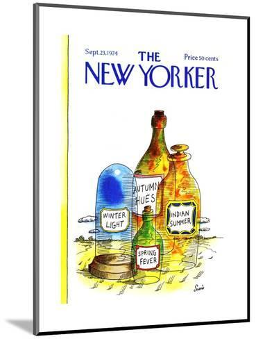 The New Yorker Cover - September 23, 1974-Jean-Claude Suares-Mounted Premium Giclee Print