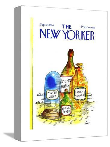 The New Yorker Cover - September 23, 1974-Jean-Claude Suares-Stretched Canvas Print