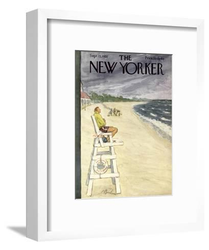 The New Yorker Cover - September 13, 1952-Perry Barlow-Framed Art Print