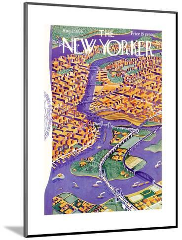The New Yorker Cover - August 22, 1936-Ilonka Karasz-Mounted Premium Giclee Print