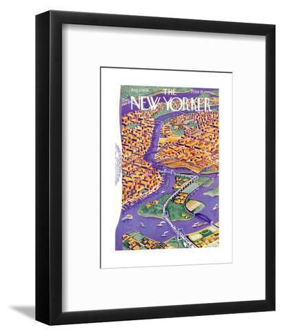 The New Yorker Cover - August 22, 1936-Ilonka Karasz-Framed Art Print