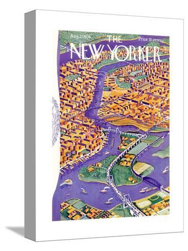 The New Yorker Cover - August 22, 1936-Ilonka Karasz-Stretched Canvas Print