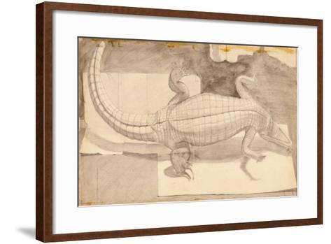 Alligator, 1948-Evelyn Williams-Framed Art Print