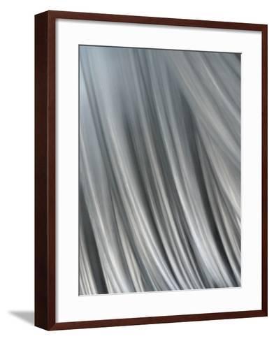 Hair-Blew-Framed Art Print