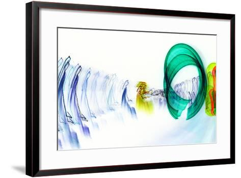 Beyond the Space-Blew-Framed Art Print
