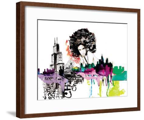 Girl in Chicago-Nicole Quattrocki-Framed Art Print
