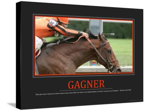 Gagner (French Translation)--Stretched Canvas Print