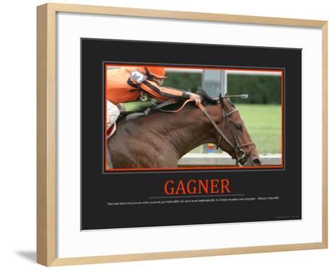 Gagner (French Translation)--Framed Art Print
